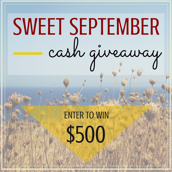 Sweet September$500 Cash Giveaway