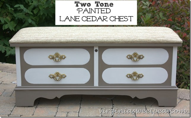Two Tone Painted Lane Cedar Chest by virginiasweetpea.com