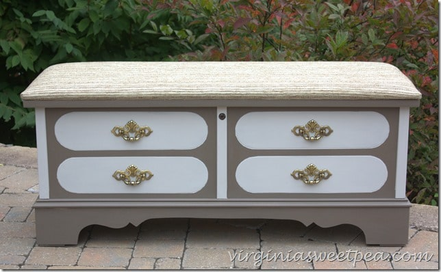 Lane Cedar Chest Makeover by virginiasweetpea.com