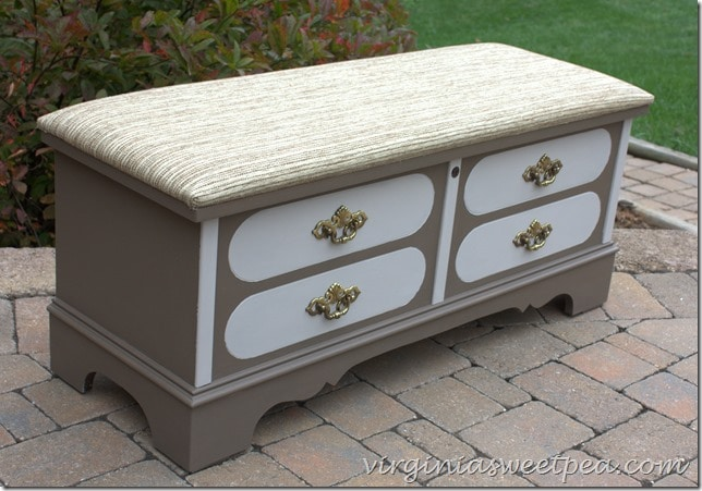 Two Toned Painted Furniture Makeover by virginiasweetpea.com
