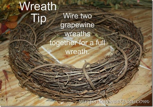 Wreath Making Tip by virginiasweetpea.com