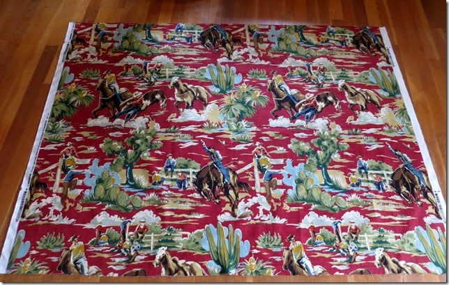 Braemore Ride Em Cowboy Chili Fabric
