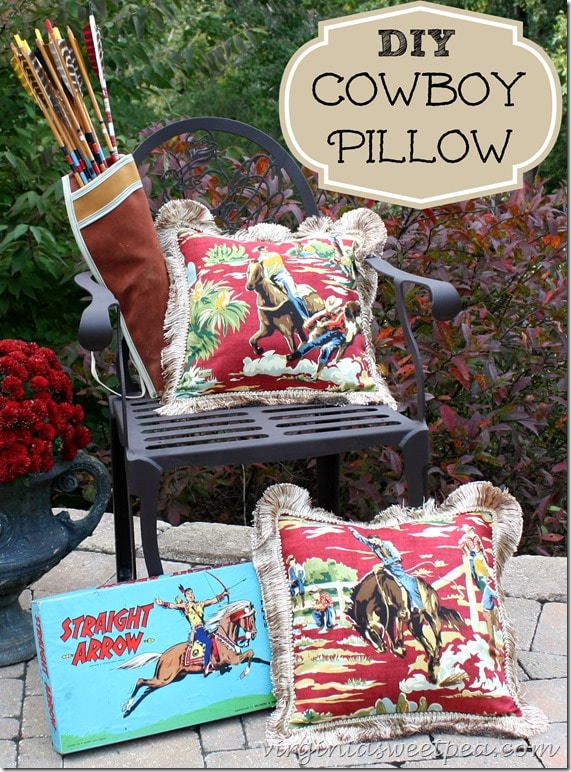 DIY Cowboy Pillow by virginiasweetpea.com