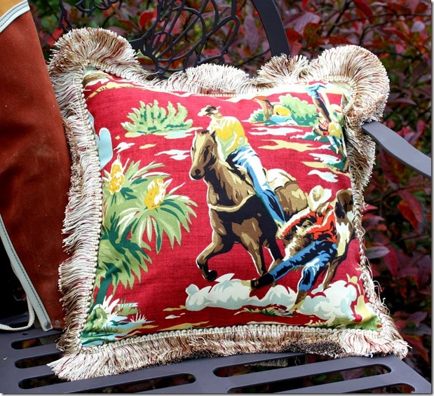 DIY Decorator Pillow - Cowboy Theme