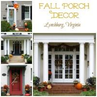Fall Porch Decor in Lynchburg, VA