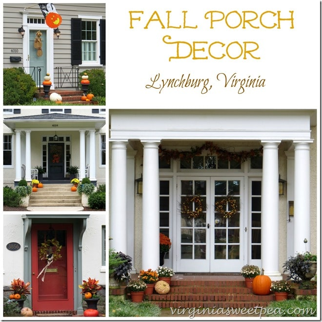 Fall Porch Decor in Lynchburg, VA
