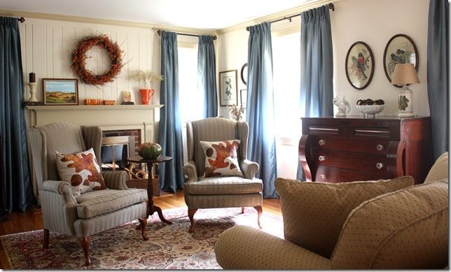 Living Room in Fall by virginiasweetpea.com