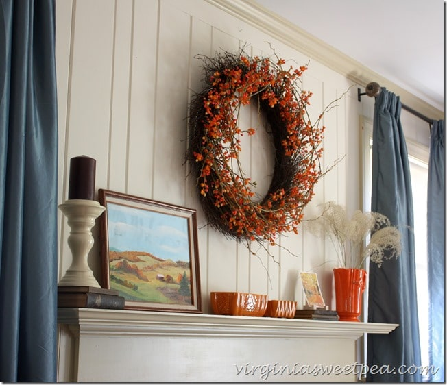 Fall Mantel by virginiasweetpea.com