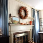 Fall Mantel and Living Room Decor