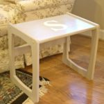Monogrammed Table Makeover – Themed Furniture Day!