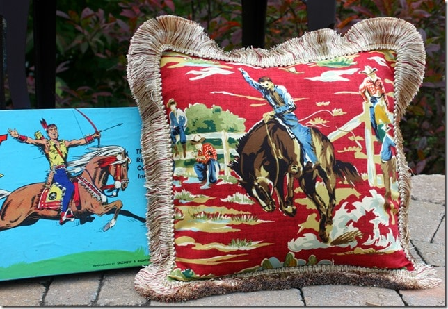 Vintage Cowboy Pillow by virginiasweetpea.com