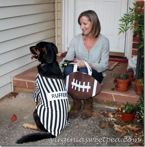 Sherman Skulina with Football Halloween Treat Bag
