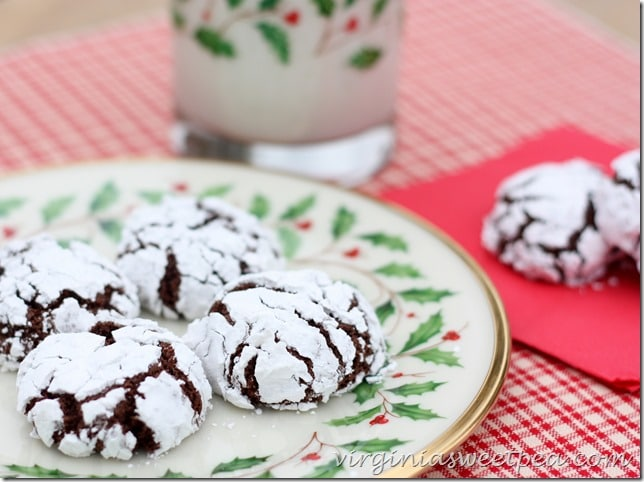 Chocolate Crinkles-Easy Cookie by virginiasweetpea.com