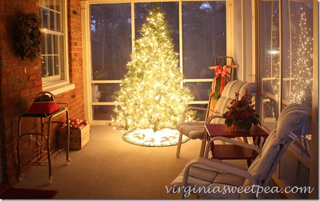 Christmas Tree on Porch
