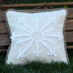 Knockoff Pottery Barn Snowflake Embroidered Pillow