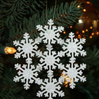 Sparkly Snowflake Ornament by virginiasweetpea.com