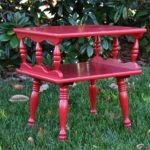 Table Makeover with Red – Themed Furniture Day!