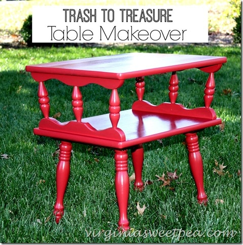 Table Makeover from the Trash by virginiasweetpea.com