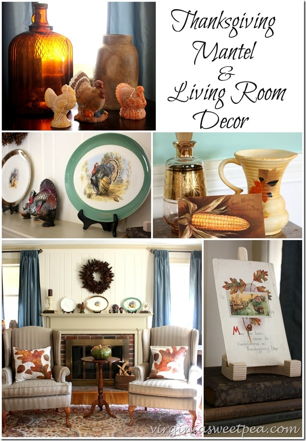 Thanksgiving mantel and living room decor sweet pea