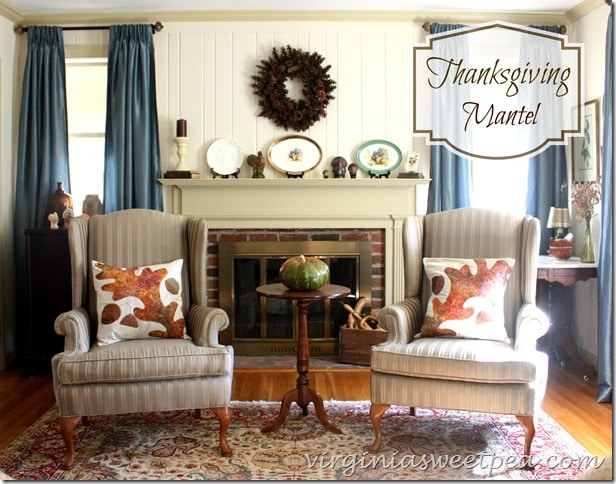 Thanksgiving Mantel by virginiasweetpea.com