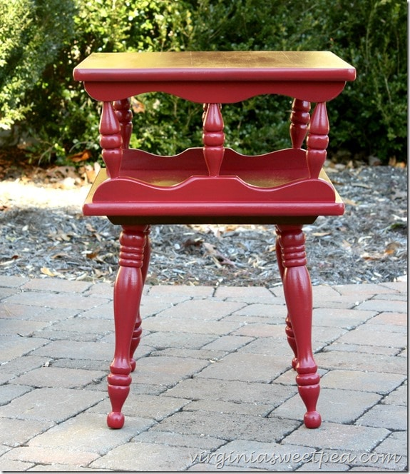 Themed Furniture Makeover with Red by virginiasweetpea.com