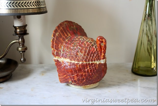 Vintage Turkey Covered Candy Dish