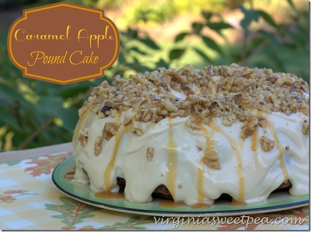 Caramel Apple Pound Cake by virginiasweetpea.com