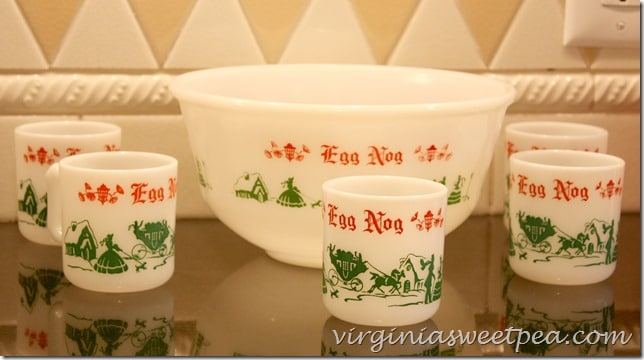 Egg Nog Vintage Christmas Punch Set by virginiasweetpea.com