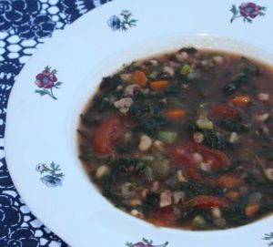 Lucky Soup with Black Eye Peas