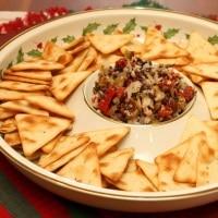 Olive-Red Pepper-Mediterranian Dip