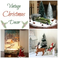 Vintage Christmas Decor by virginiasweetpea