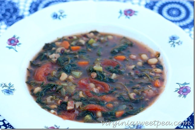 Lucky Soup with Black Eye Peas for New Year's Day