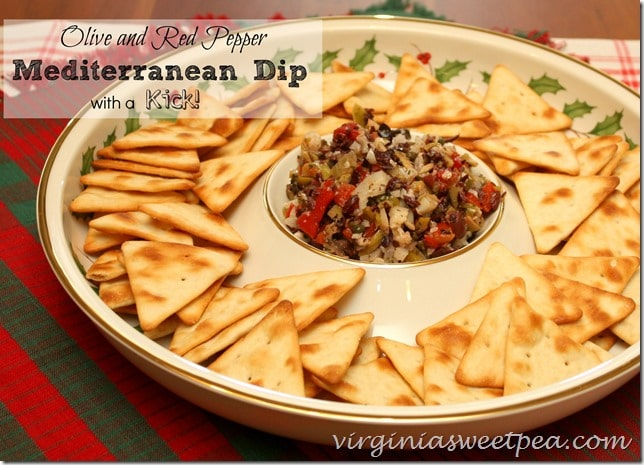 Olive-Red Pepper-Mediterranian Dip-with a Kick by virginiasweetpea.com
