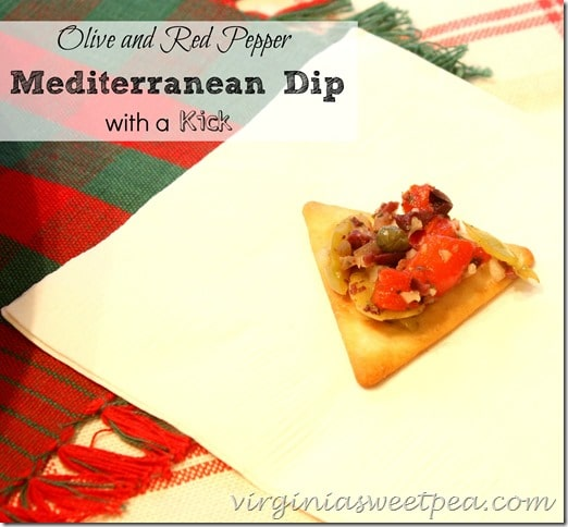 Olive and Red Pepper Mediterranean Dip with a Kick by virginiasweetpea.com