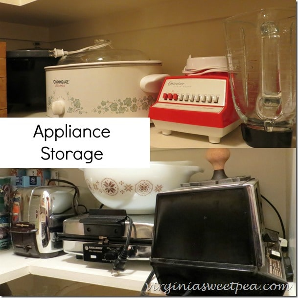 Appliance Storage in the Pantry by www.virginiasweetpea.com