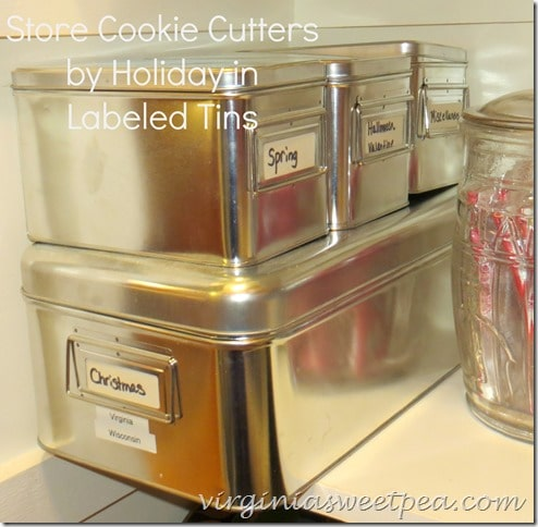 Cookie Cutter Storage by virginiasweetpea.com