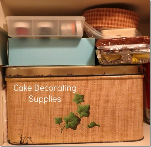 Cake Decoration Storage Idea by virginiasweetpea.com