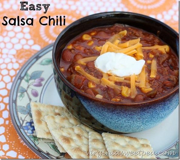 Easy Salsa Chili by virginiasweetpea.com