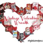 Pinterest Inspired Vintage Valentine Wreath