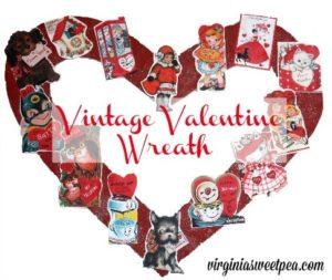 Pinterest Inspired Vintage Valentine Wreath