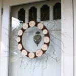 Wood Slice Wreath for Winter