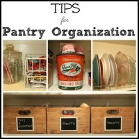 Tips for Pantry Organization by virginiasweetpea.com