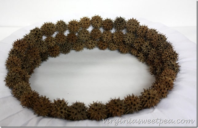 How to Make a Sweet Gum Seed Pod Wreath