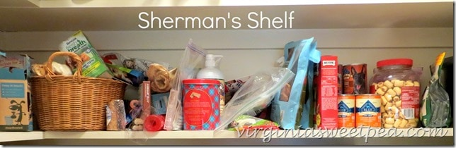 Sherman's Shelf Before