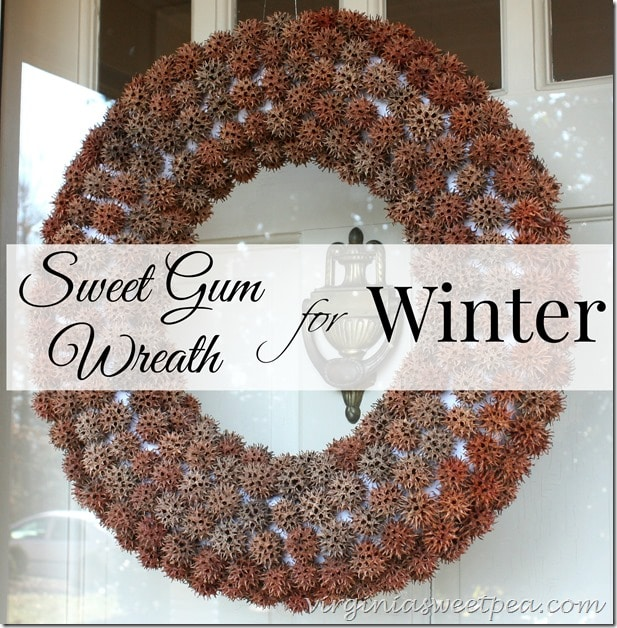 Sweet Gum Wreath for Winter by virginiasweetpea.com
