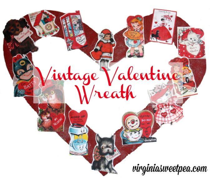 Vintage Valentine Wreath by virginiasweetpea.com