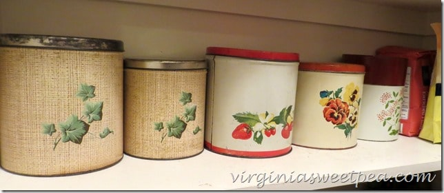 Vintage Canisters in the Pantry