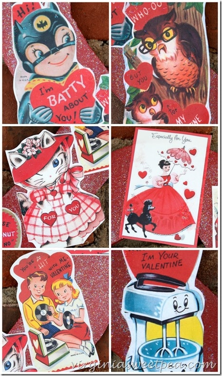 Vintage Valentines for Wreath