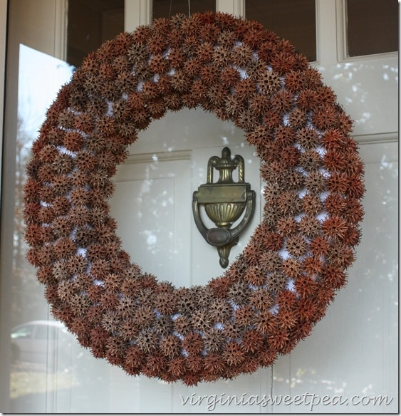 Wreath Made with Sweet Gum Balls