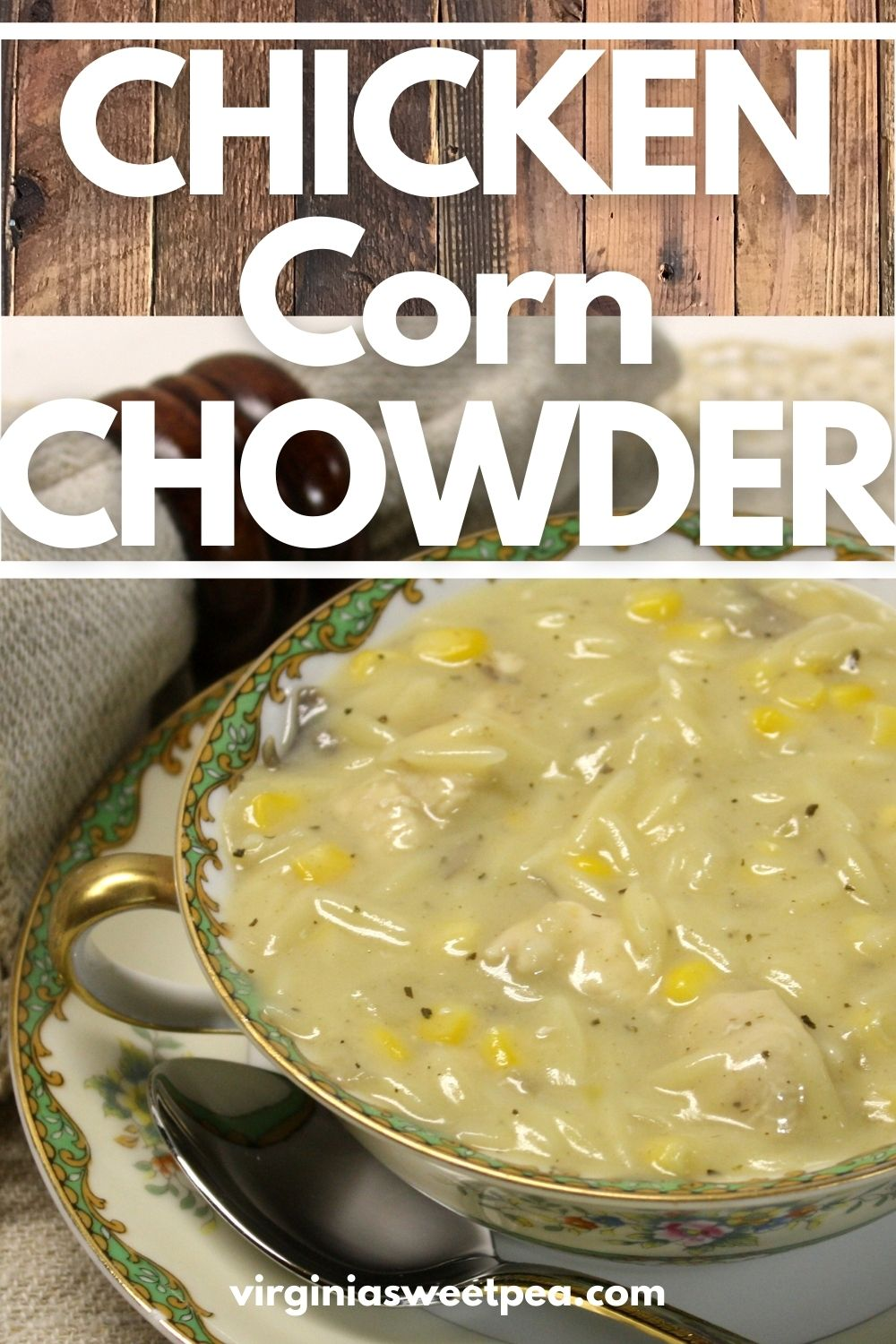 Chicken Corn Chowder - This tasty soup is ready to enjoy in just 30 minutes.  Mushrooms, chicken, corn, and orzo make a delicious combination for this satisfying and delicious chowder. via @spaula